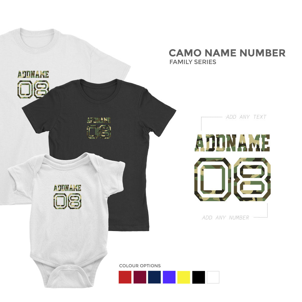 Camo Name Number Family Series
