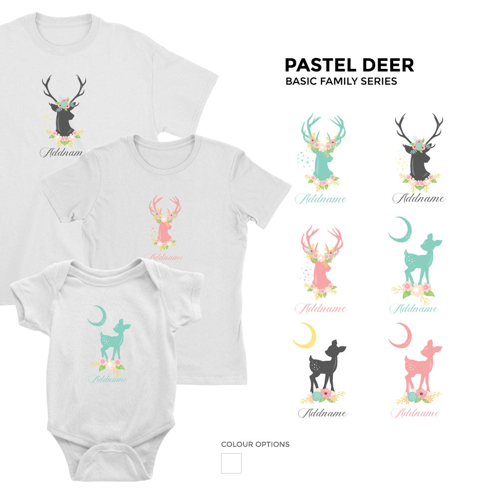 Pastel Deer Family Series