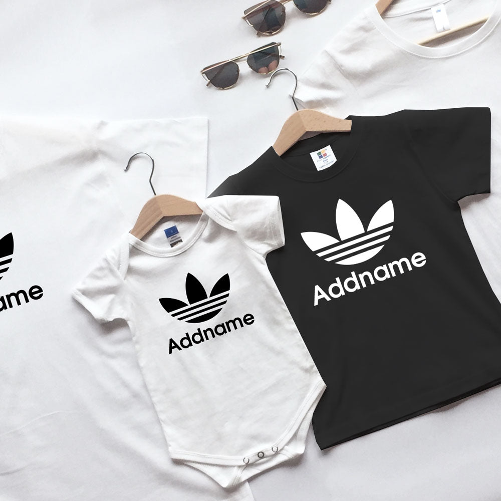 Adidas Inspired Streetwear Leaf Emblem Family Matching T-Shirts