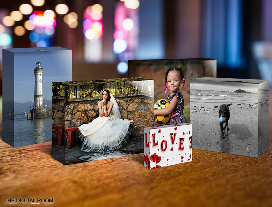 New From The Digital Room - Gloss Acrylic Desk Blocks from your Favourite Images and Photos