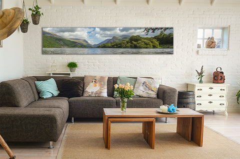 Snowdonia HD Gloss Aluminium Print in room preview
