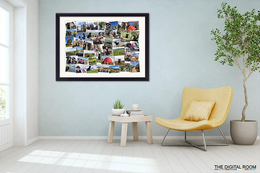 Perfect Gloss - Medium Premium Framed Montage Print in room setting