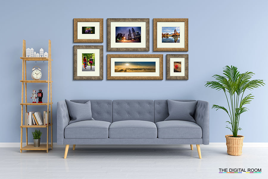 Aged Metallics Premium Framed Prints displayed in room preview.