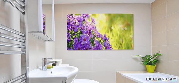 Brushed Aluminium Dibond - Direct Print in Bathroom