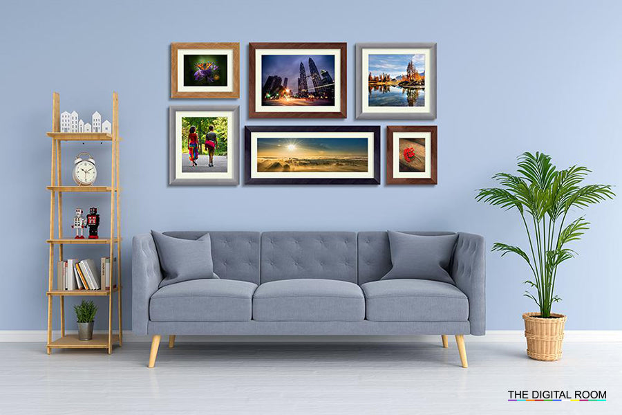 Brushed Metallics Premium Framed Prints displayed in room preview.