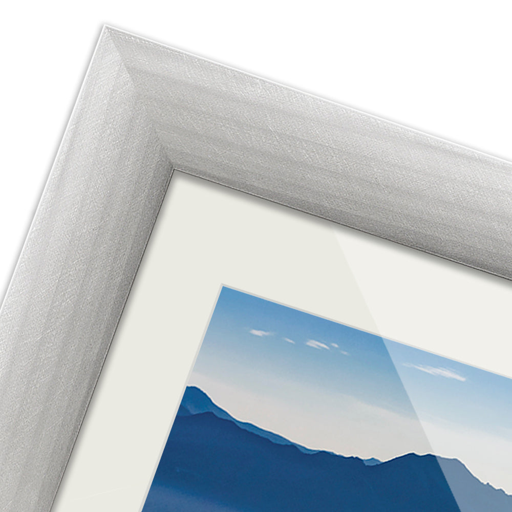 Brushed Metallics - Silver frame example