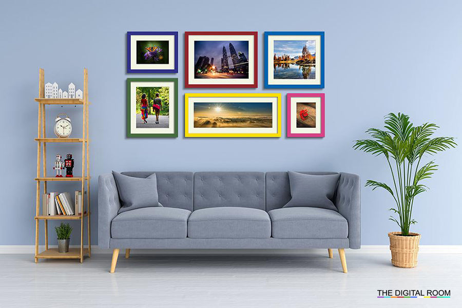 Colour Splash Premium Framed Prints displayed in room preview.