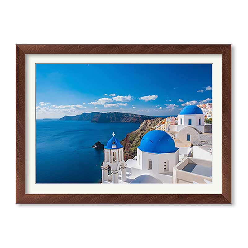 Landscape Brushed Metallics Premium Framed Print example