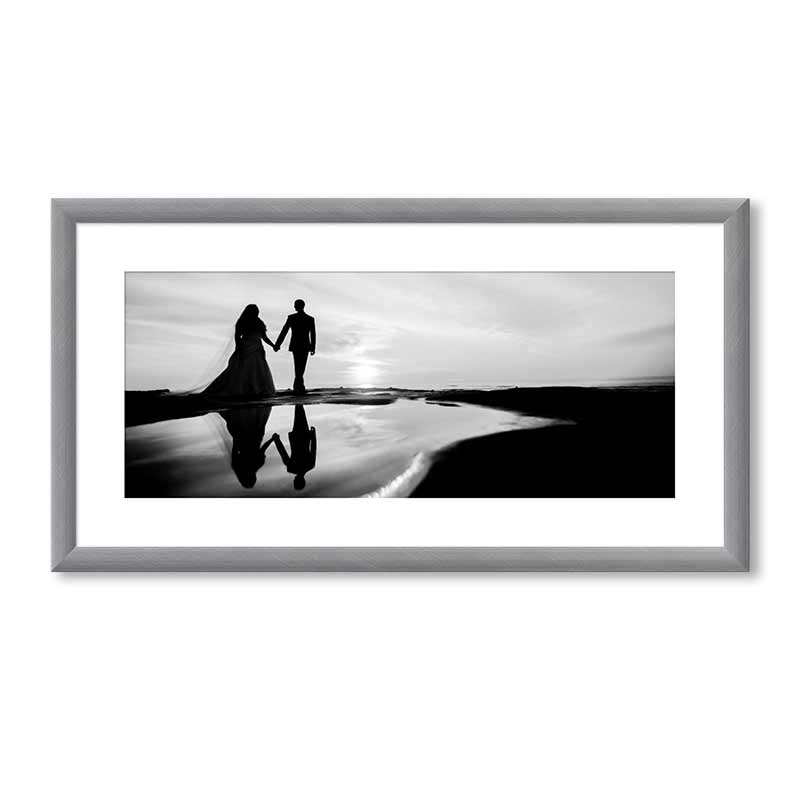 Panoramic Brushed Metallics Premium Framed Print example