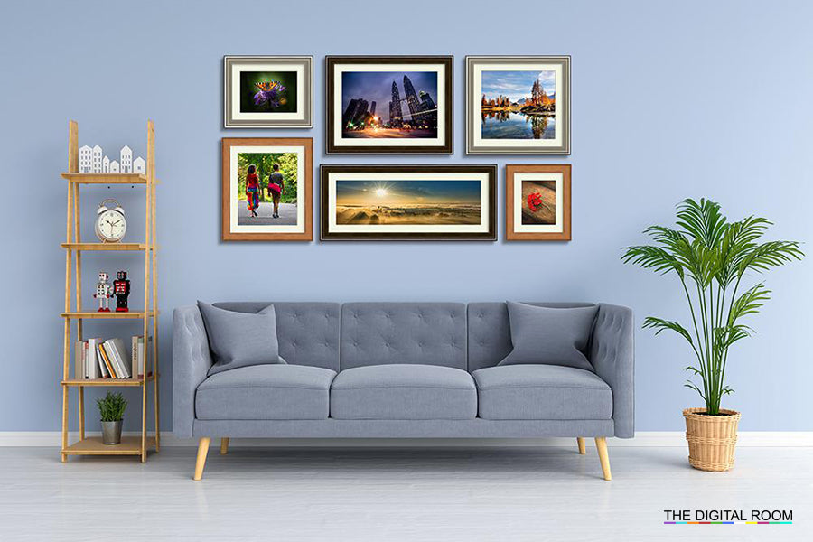 Paris Steel Metallics Premium Framed Prints displayed in room preview.