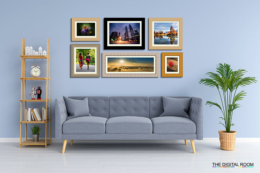 Rustic Premium Framed Prints displayed in room preview.