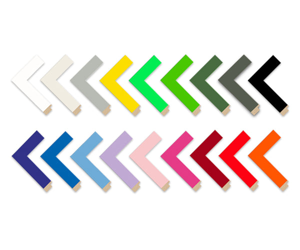 Colour Splash Frame Moulding chevrons