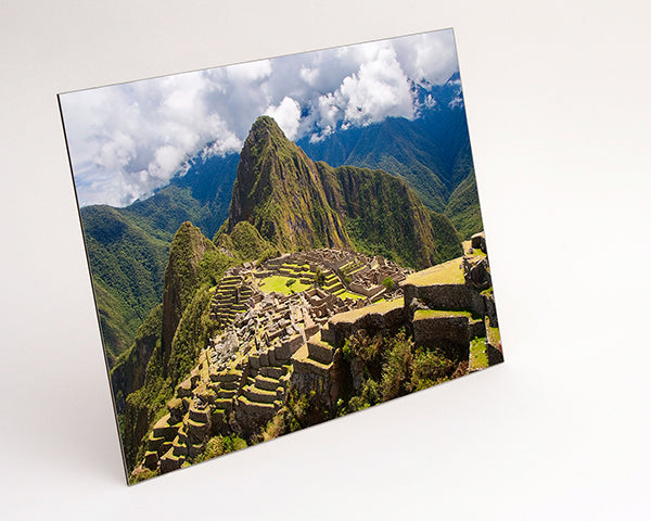 Landscape format Aluminium Dibond - Photo Print of Machu Pichu