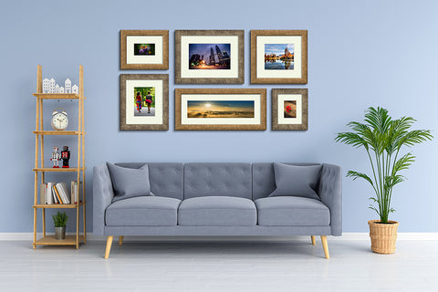 Aged Metallics Premium Framed Prints in room setting
