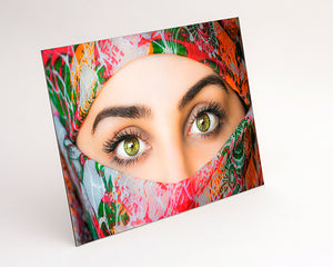 Landscape format Aluminium Dibond - Photo Print of woman in headscarf