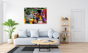 The Digital Room Matte Acrylic Print displayed on wall