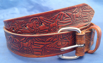 Belts - all handmade 100% real leather.