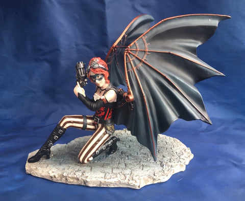 Steampunk Winged Assassin Ornament by Anne Stokes