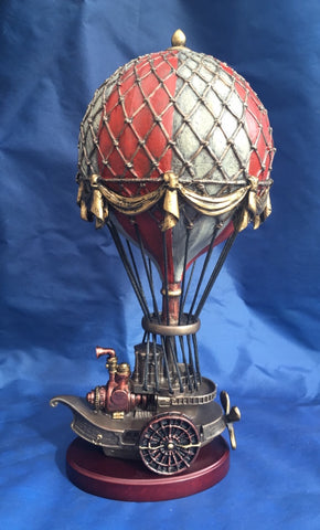 Steampunk Balloonist Ornament. Veronese Studio Collection