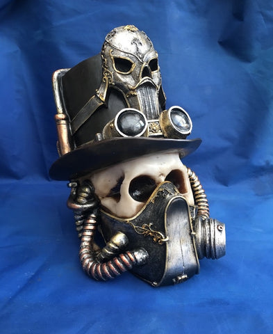 Steampunk Breathe Easy Skull by Nemesis Now