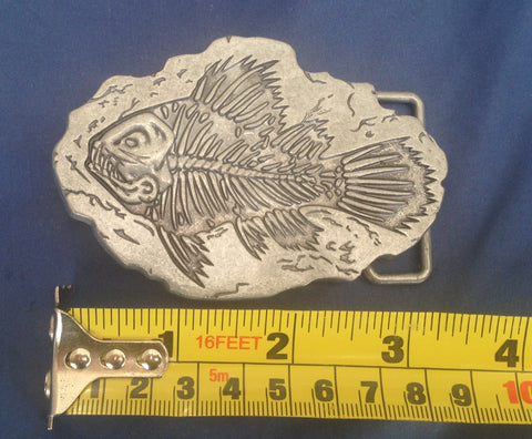 Fish Fossil - Metal Belt Buckle