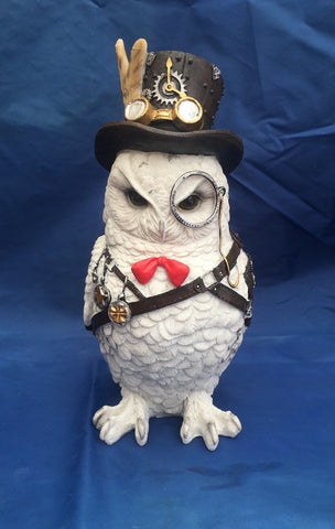 Steampunk Cogsmiths Owl Ornament by Nemesis Now