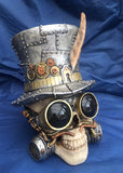 Steampunk Count Archibald Skull by Nemesis Now
