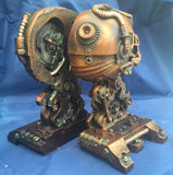 Steampunk Cranial Bookends by Nemesis Now