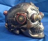 Steampunk Cranial Optic Enhancer Skull Trinket Box. Veronese Studio Collection