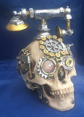 Steampunk Dead Ringer Skull by Nemesis Now