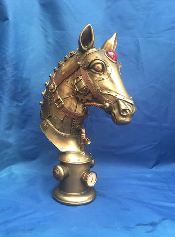 Steampunk Equus Machina bust by Nemesis Now