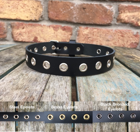 Eyelet Leather Choker