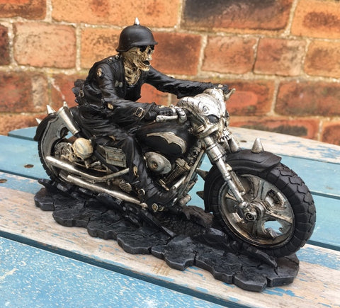 Hell on the Highway Skeleton Biker by James Ryman