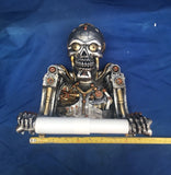 Steampunk Humanoid Helper Toilet Roll Holder by Nemesis Now