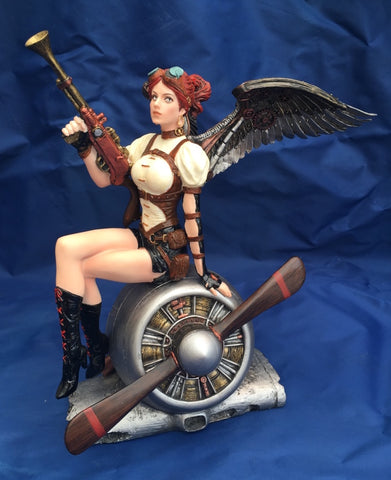 Steampunk Lady Fedelia Ornament by Anne Stokes