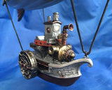 Steampunk Marvellous Steamship Hanging Ornament. Veronese Studio Collection