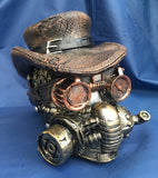 Steampunk Masked Menace Skull by Nemesis Now