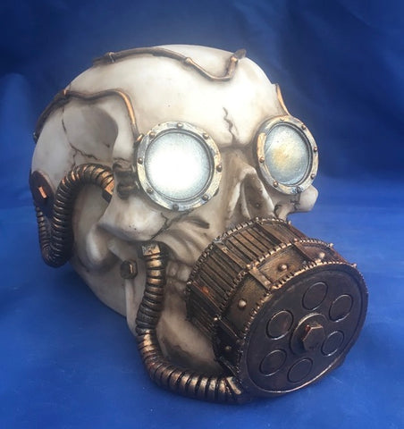 Steampunk Mechanical Respirator Skull by Nemesis Now
