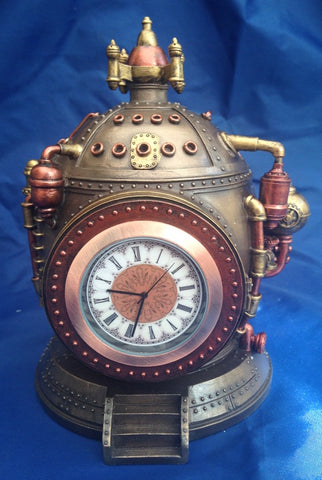 Steampunk Mechanics of Time Clock Trinket Box. Veronese Studio Collection