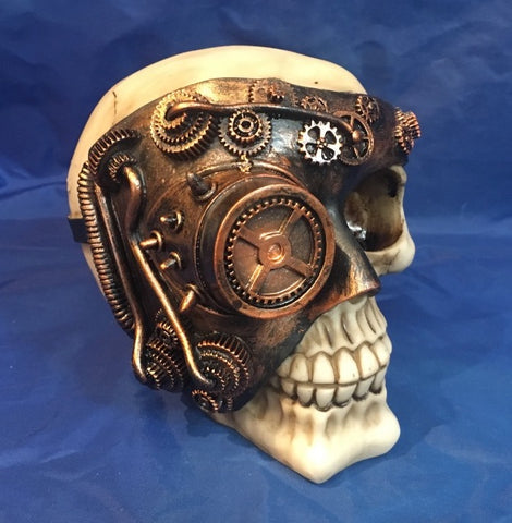 Steampunk Monocle Man Skull by Nemesis Now