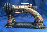 Steampunk Nocks Steam Gun & Stand Ornament. Veronese Studio Collection