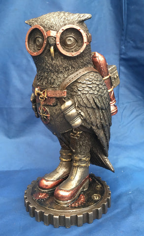 Steampunk Odd Wing Owl Ornament. Veronese Studio Collection