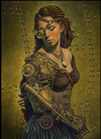 Steampunk Greeting Card Remember a Day by Chris Down