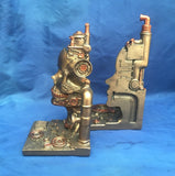 Steampunk Split Bookends by Nemesis Now