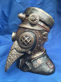 Steampunk Steam Doctor Bust Ornament Trinket Box. Veronese Studio Collection