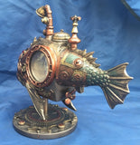 Steampunk Sub Piranha Ornament. Veronese Studio Collection