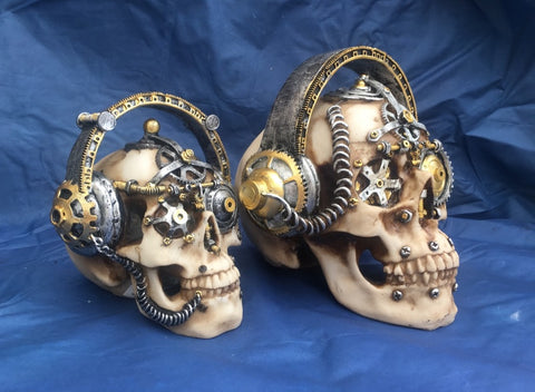 Steampunk Techno Talk Skull by Nemesis Now