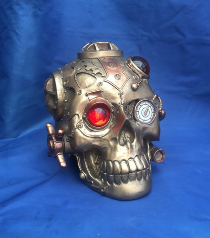 Steampunk Under Pressure Skull by Nemesis Now
