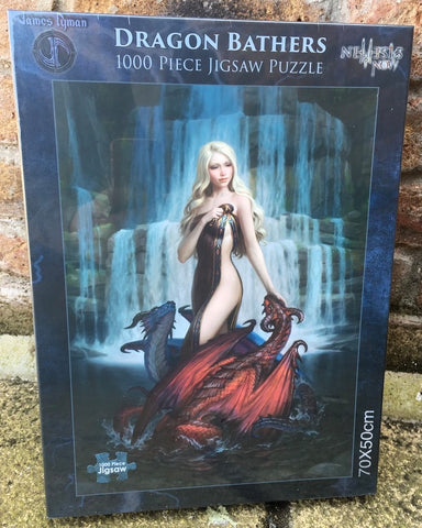 Dragon Bathers Jigsaw by James Ryman