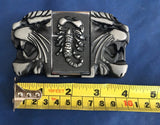 Lion Heads & Scorpion with Lighter - Metal Belt Buckle